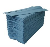 Pristine C-Fold Blue Paper Hand Towels 1 Ply (Case of 10)