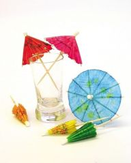 Paper parasol, assorted colours