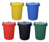 Trojan 110L Heavy Duty Clip Lid Dustbins (Various Colours)