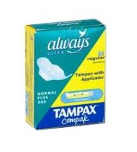 Always/Tampax Combination Sanitary Pack 1 Towel & Tampon (Case of 200)