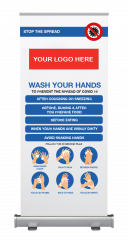 Wash Your Hands Full Colour Pop Up Banner (2100 x 850mm)