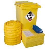 240 Litre Chemical Spill Kit in Wheeled Bin