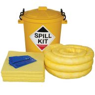 65 Litre Chemical Spill Kit in Yellow Drum