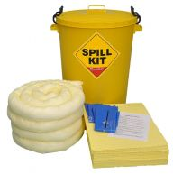 90 Litre Chemical Spill Kit in Yellow Drum