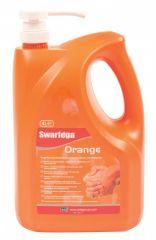 Deb Swarfega 4L Orange Hand Cleaner Pump Containers (Case of 4)