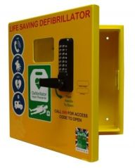 Defib Store 1000 XL Stainless Steel Cabinet with Keypad Lock