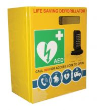 Outdoor Defibrillator Cabinet Stainless Steel Locked 3000 Series