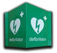 3D Defibrillator Location Wall Sign in Green