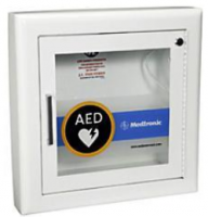 Physio Control Steel AED Wall Cabinet with Alarm in White