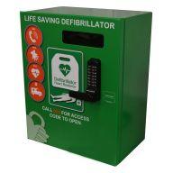 Outdoor Defibrillator Cabinet Mild Steel Locked 2000 Series- Green