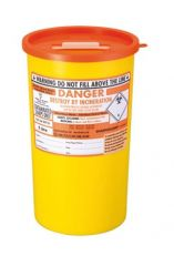 Orange Lid Sharps Bin 5 Litre (Case of 48)