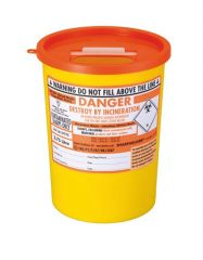 Orange Lid Sharps Bin 3.75 Litre (Case of 48)