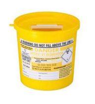 Yellow Lid Sharps Theatre Bin 22 Litre (Case of 10)