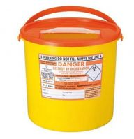 Orange Lid Sharps Bin 11.5 Litre (Case of 20)