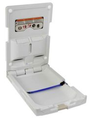 Dolphin Vertical Baby Changing Unit White