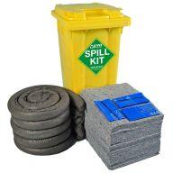 120 Litre EVO Recycled® Spill Kit in Yellow Wheelie-Bin