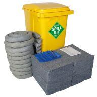 360 Litre EVO Recycled® Spill Kit in Yellow Wheelie-bin