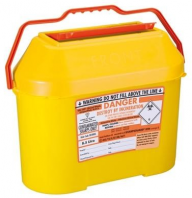 Orange Lid Sharps Extra Bin 8.5 Litre (Case of 15)