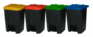 Pedal Bins with Coloured Lids (Various Colours & Sizes)