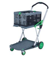 Clever Folding Wheeled Trolley with Two Tray