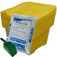 60L Stackable Grit Bin with FREE 23kg Bag of Salt & Small Scoop