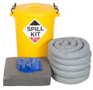 100 Litre General Purpose Spill Kit In a Yellow Drum