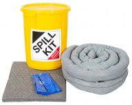 35L Spill Kits General, Chemical, Oil in a Yellow Drum