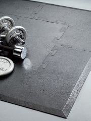 Gym Matting in Black Tiles, Corners and Borders