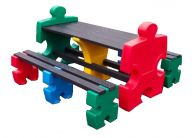 Jigsaw Table and Bench Set 4 Person