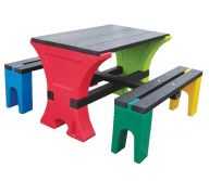 Junior Table and Bench Set For Upto 4 Children