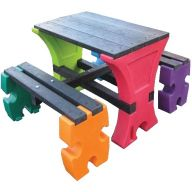 Junior Jigsaw Table and Bench Set For Upto 4 Children