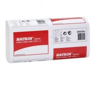 Katrin Classic Non Stop Z-Fold White Paper Towels 1 Ply (Case of 14) - 344555