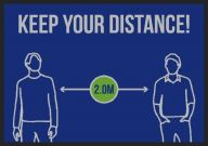 Social Distancing Keep Your Distance Mats All Sizes