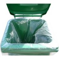 Clear Wheelie Bin Sack Liner to fit 120 and 240 Litre Bins (Case of 100)