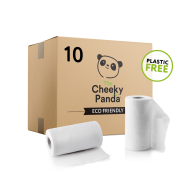 Cheeky Panda Plastic Free Kitchen Towels - 10 Rolls
