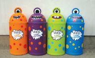 Small 42 Litre Monster Litter Bin (Set of Four)