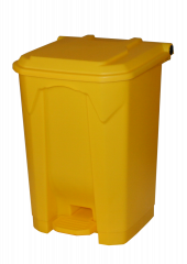 50 Litre Step On Pedal Bins in Yellow