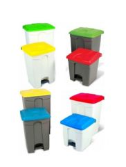 Step On Container Pedal Bin 45 Litre Grey/Blue
