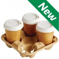 Cup Carry Tray for 4 Takeaway Cups - Case of 360