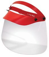 Numatic Face Shield with 180° Field Of Vision in Red