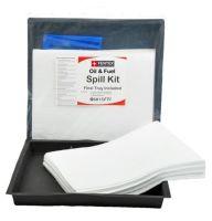 15 Litre Oil & Fuel Spill Kit with 50cm x 50cm Flexi Tray