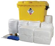 800L Spill Kit in Wheeled Bin with Plug Rug Drain Cover