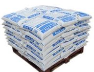 Pallet of White De-icing Rock Salt 23kg x 42 Bags