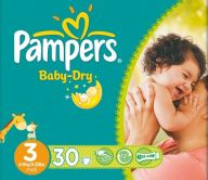Pampers Midi Baby Dry Nappies
