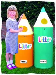 Pack of 4 52 Litre Pencil Bin with Litter Lettering