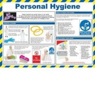 Personal Hygiene Laminated  Poster, Hand Washing for Food Handling