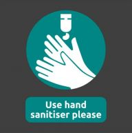 Use Hand Sanitiser Please Mat With Rubber Border