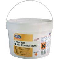 Urinal Channel Blocks Lemon 3kg Tub