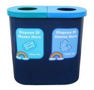 Popular Twin 70L Bin for Mask & Glove Disposal