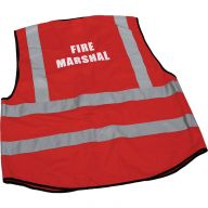 Fire Marshal Hi-Vis Red Large